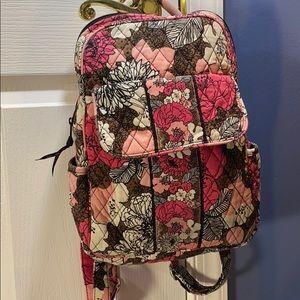 💕Vera Bradley pink black floral backpack purse 💕
